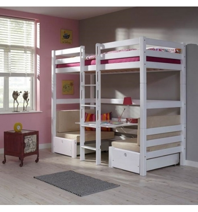 letti a castello bambini con scrivania. Black Bedroom Furniture Sets. Home Design Ideas