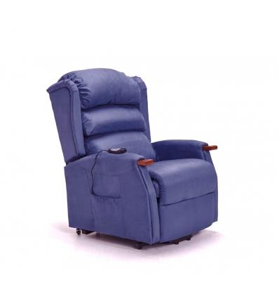 Poltrona di massaggi alzapersona blu