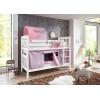 Letto a castello con letto aggiuntivo viola rosa
