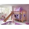 Letto a castello tende viola rosa