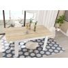 Tavolo da soggiorno rovere / bianco