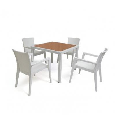 Tavolo impilabile per estrni